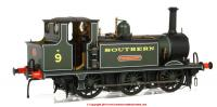 "7S-010-010 Dapol A1X Terrier 0-6-0 Steam Locomotive number 9 named ""Fishbourne"" in Southern Green livery"