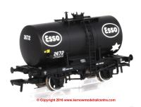 38-777 Bachmann Class B 20 Ton Anchor-Mounted Tank Wagon number 2672 in Esso livery