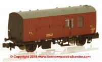 373-360A Graham Farish BR Mk1 Horse Box number E96307 in BR Maroon livery