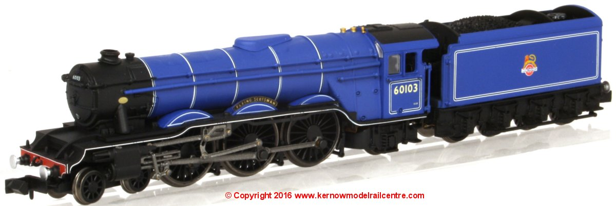 "2S-011-003D Dapol Class A3 Steam Locomotive number 60103 named ""Flying Scotsman"" in BR Blue livery with early emblem"