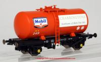 1108 Heljan 4 Wheel B Tank Wagon number 249 in Mobil Charrington Fuel Oil livery
