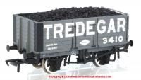 37-091 Bachmann 7 Plank End Door Wagon number 3410 - Tredegar with coal load