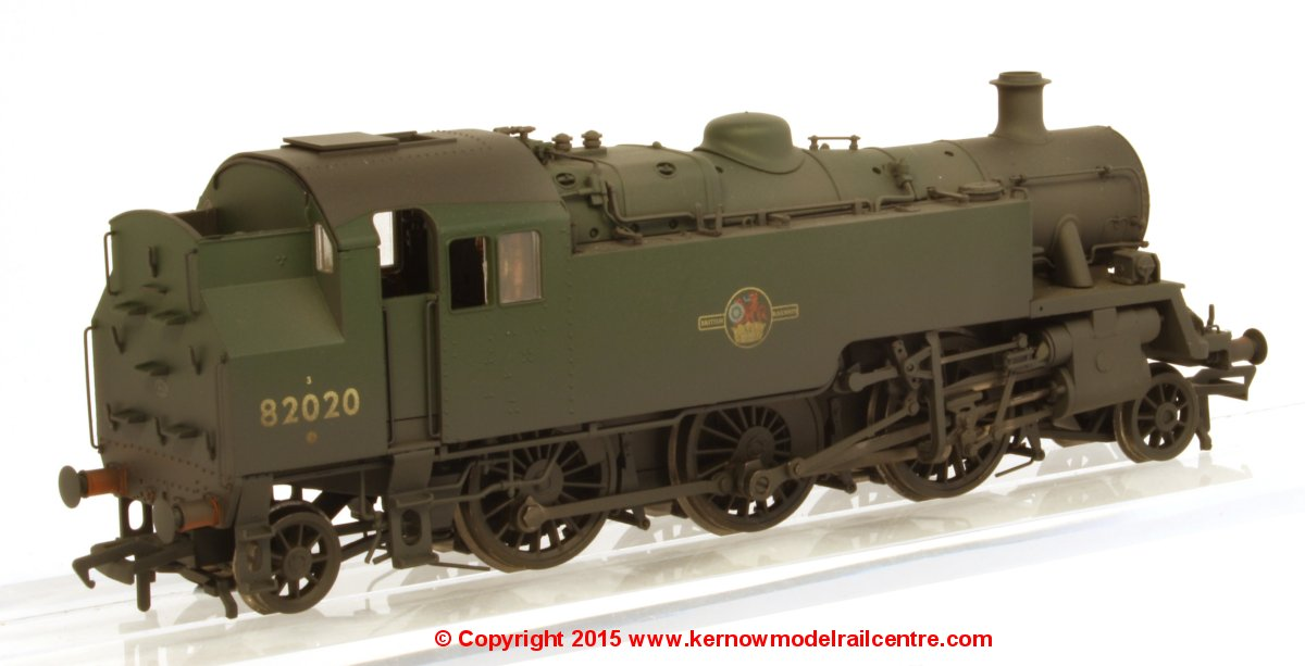 31-980 Bachmann BR Standard Class 3MT Steam Tank Locomotive number 82020 in BR Green livery with late crest and weathered finish
