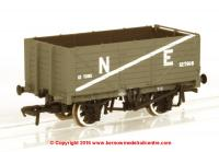 37-089 Bachmann 7 Plank End Door Wagon number 127916 in NE Grey livery