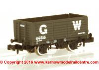 377-088 Graham Farish 7 Plank Wagon End Door number 06515 in GWR Grey livery