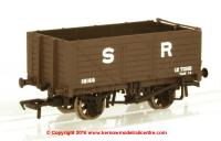 37-090 Bachmann 7 Plank Fixed End Wagon number 18166 in SR Brown livery