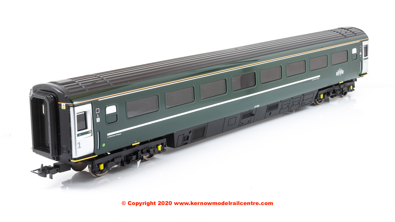 R4815B Hornby Mk3 Trailer First Disabled Coach number 41160 in GWR Green livery - Coach L - Era 11