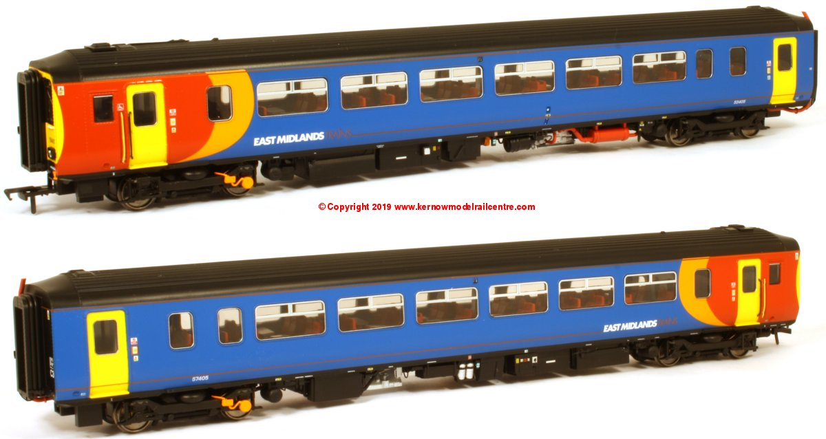 156-115 Realtrack Models Class 156 2 Car Sprinter DMU number 156 405 in East Midlands Trains livery