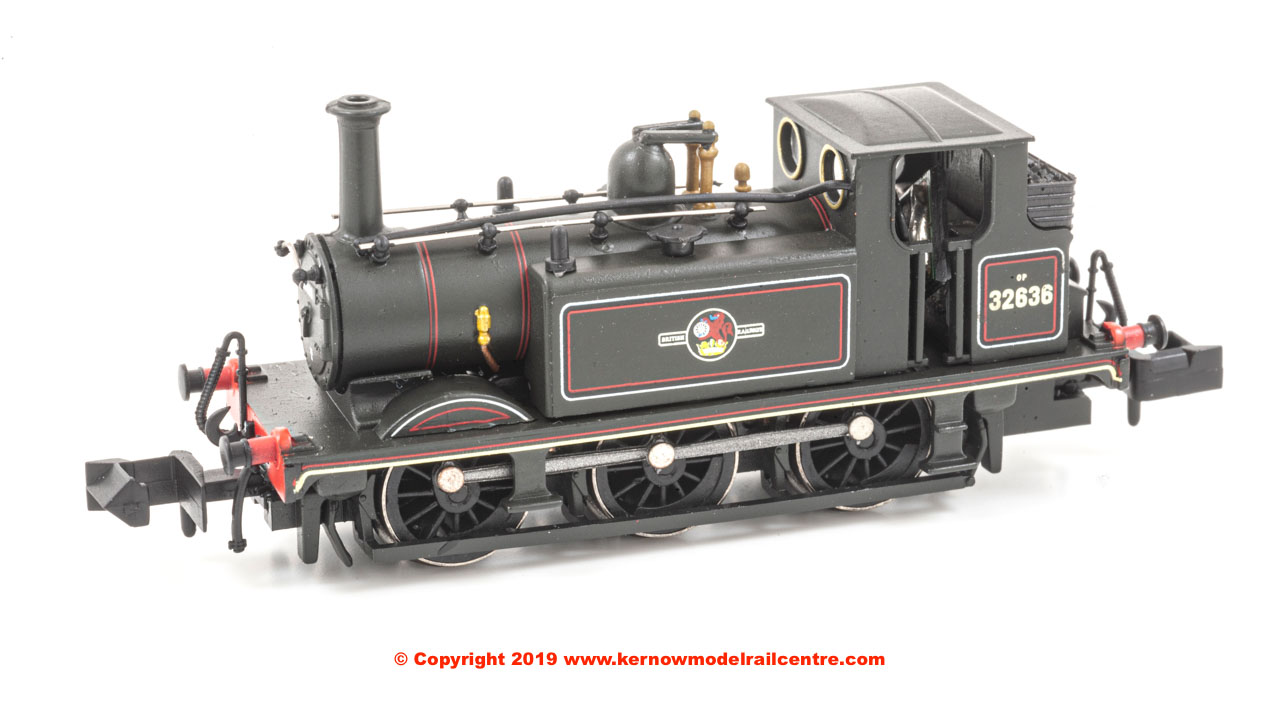 2S-012-010 Dapol 0-6-0 Terrier A1X Steam Locomotive number 32636 in BR Lined Black livery Late Crest