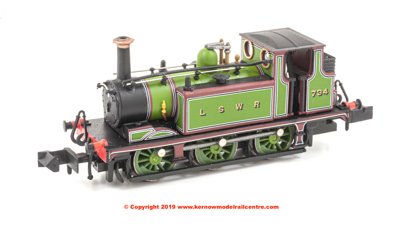 2S-012-012 Dapol 0-6-0 Terrier A1 Steam Locomotive number 734 in LSWR Green livery