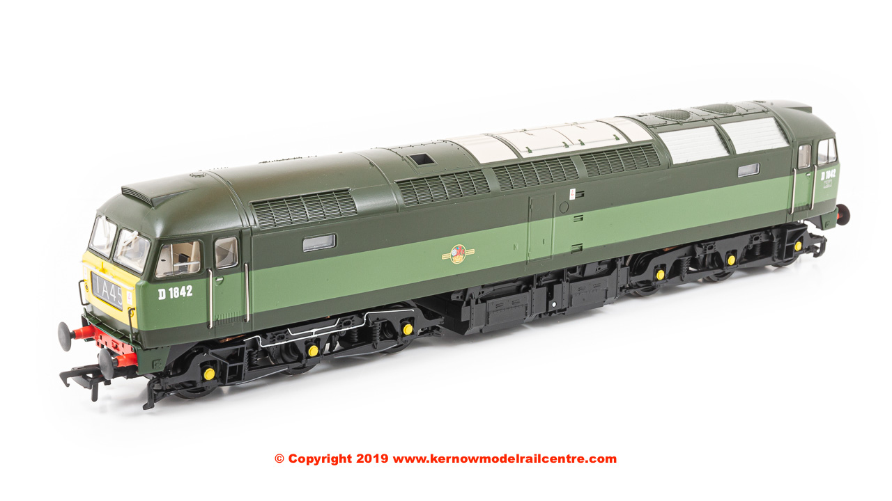 32-806 Bachmann Class 47/0 Diesel Locomotive number D1842 in BR Two-Tone Green livery with small yellow panels