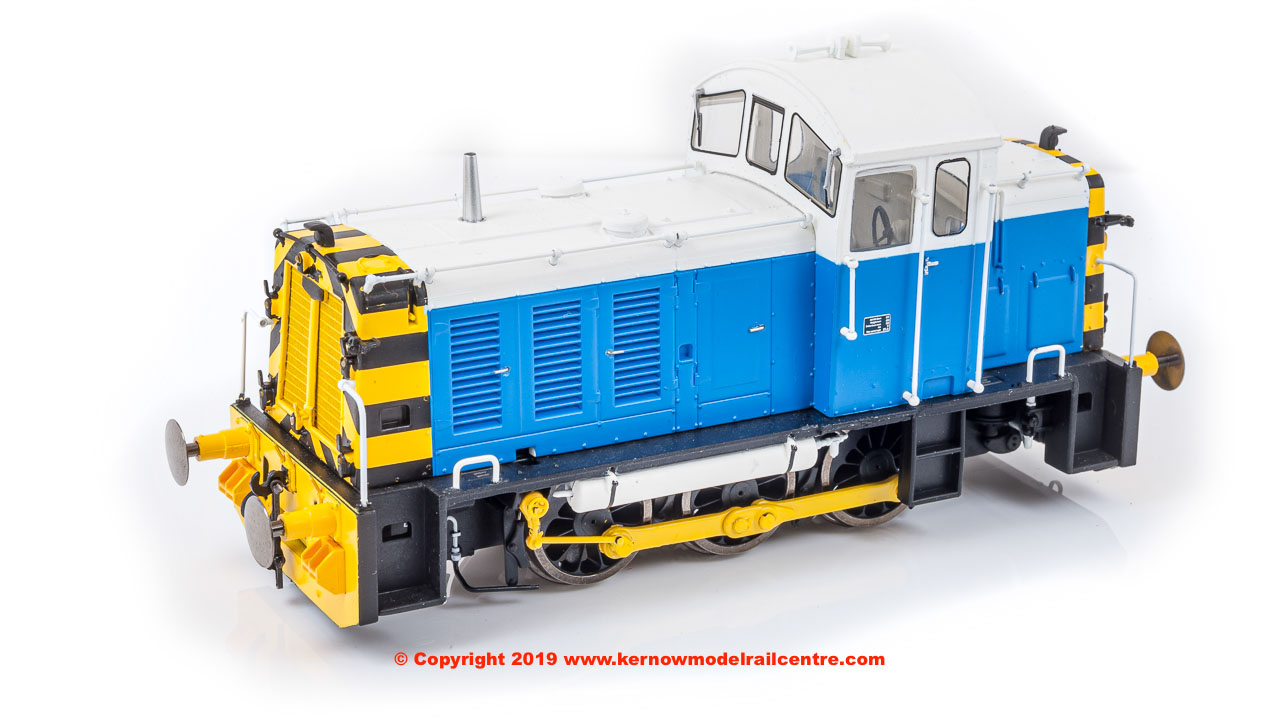 2909 Heljan Class 07 Diesel Shunter number 07 006 in Powell Duffryn Blue and White livery