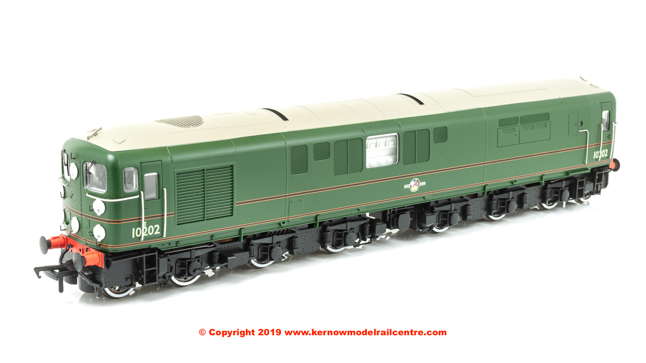 K2706DS Bulleid 1-Co-Co-1 Diesel Locomotive number 10202 in BR Green livery with Late Crest (Grey roof)
