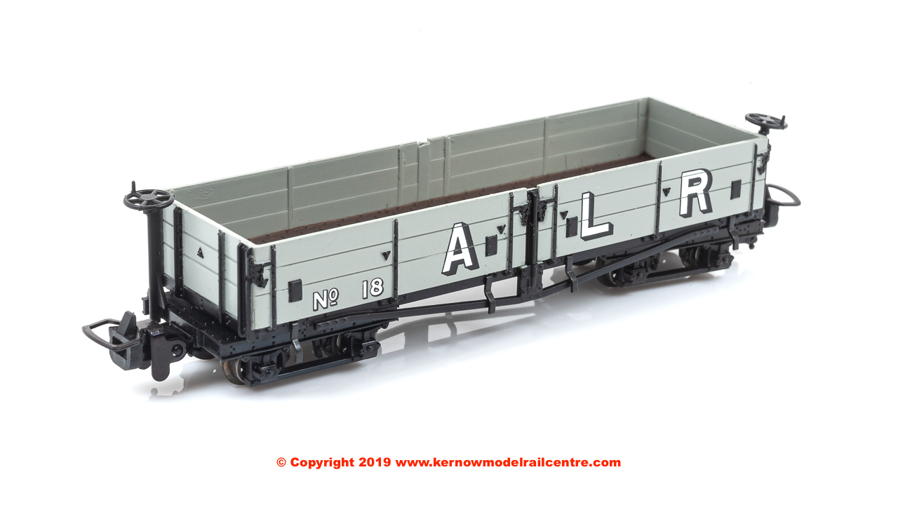 393-055 Bachmann Open Bogie Wagon number 18 - Ashover Railway Light Grey (Early)
