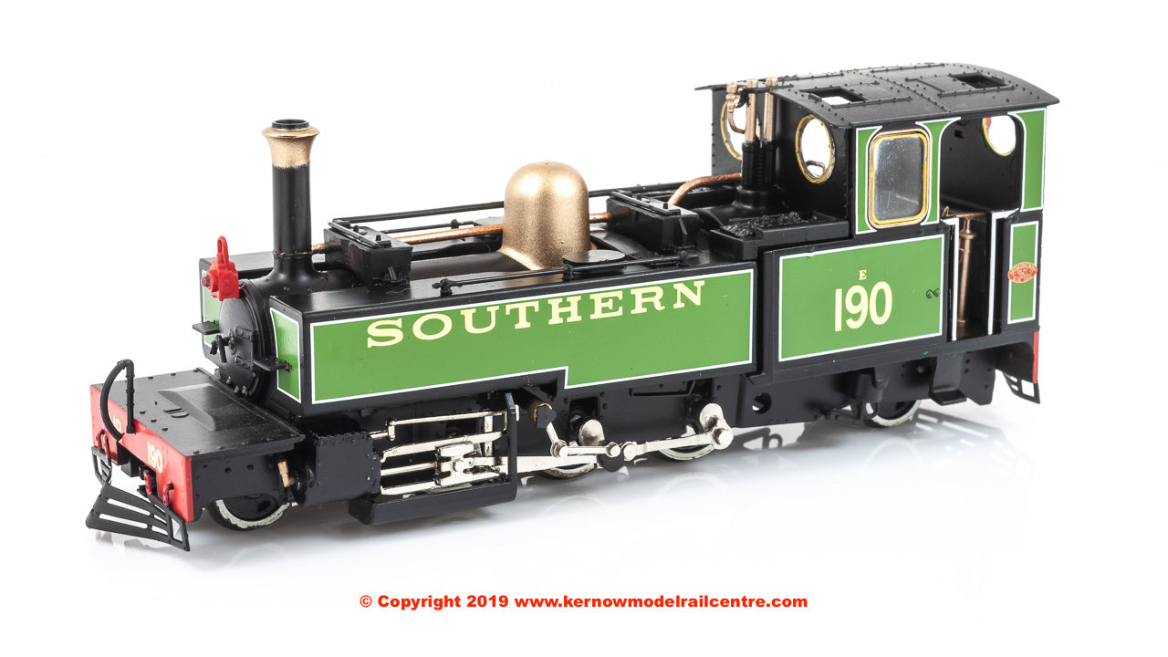 "9963 Heljan Lynton & Barnstaple Steam Locomotive number E190 named ""Lyd"" in SR Green livery"