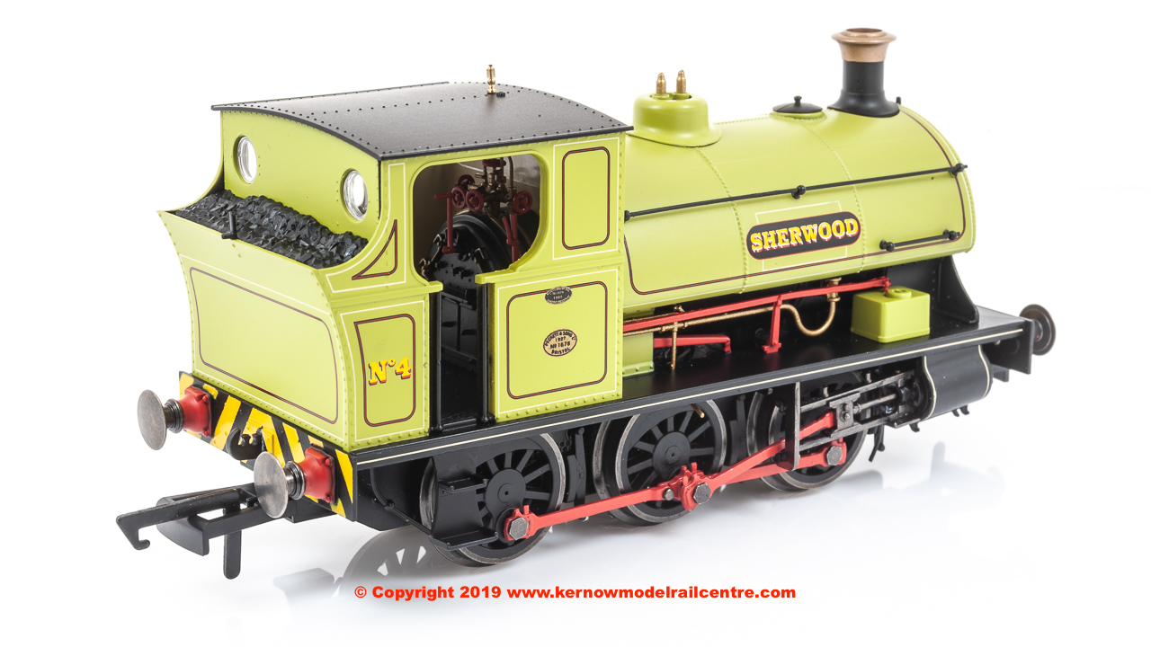 "R3693 Hornby Peckett B2 Class 0-6-0ST Steam Locomotive number 4 named ""Sherwood"" - Sherwood Colliery Co. Ltd"