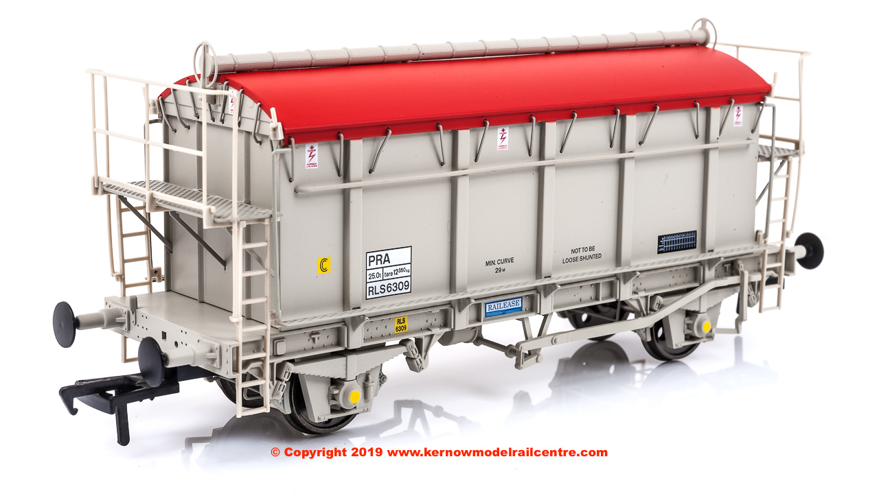 SB007F PRA 38 Tonne glw Covered Box Wagon number RLS6309 in early grey livery