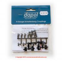 2A-000-029 Dapol Scharfenburg Coupler (Short/Medium or Long) 1pr