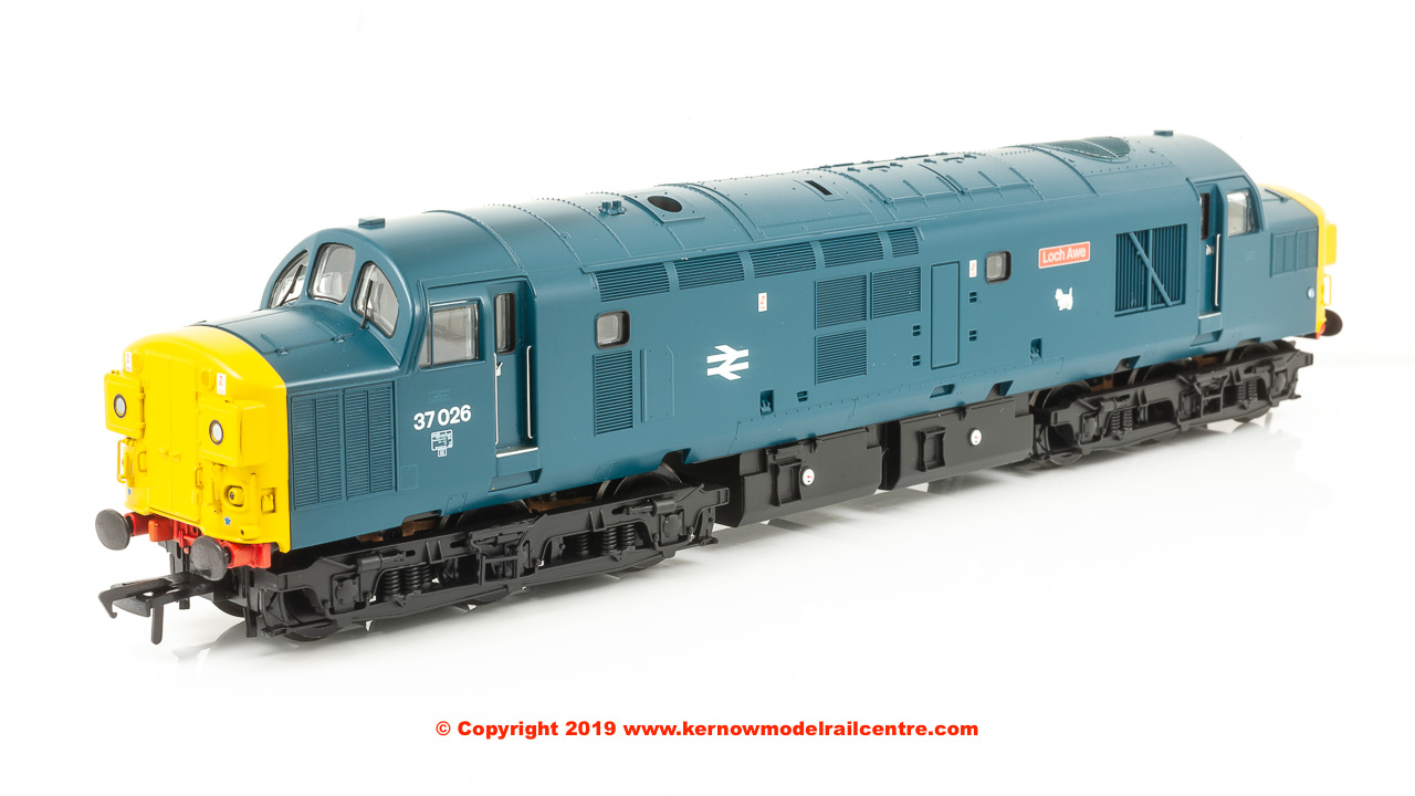 "32-779Z Bachmann Class 37/0 Diesel Locomotive number 37 026 named ""Loch Awe"" in BR Blue livery"