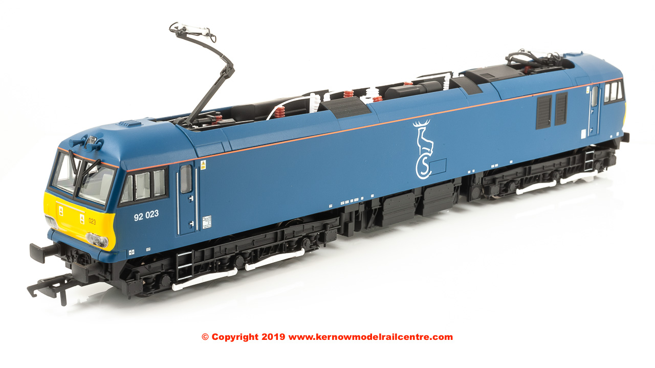 R3740 Hornby Class 92 Co-Co Electric Locomotive number 92 023 in Caledonian Sleeper livery