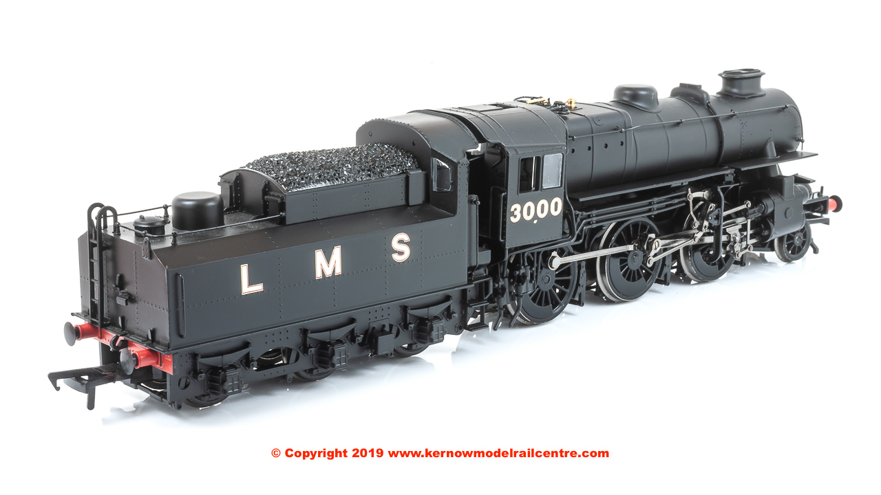 32-575A Bachmann Ivatt Class 4MT Steam Locomotive number 3000 in LMS Black livery