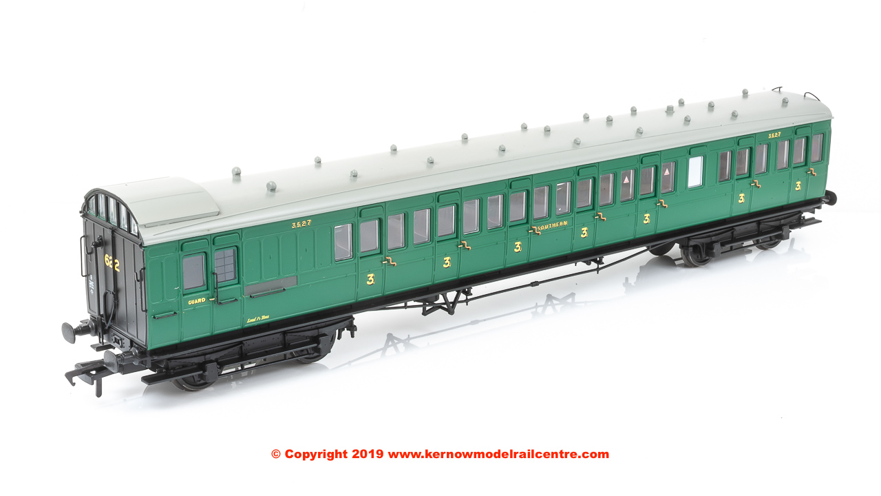 39-603 Bachmann SECR 60ft Birdcage Brake Composite Southern Railway Malachite Green