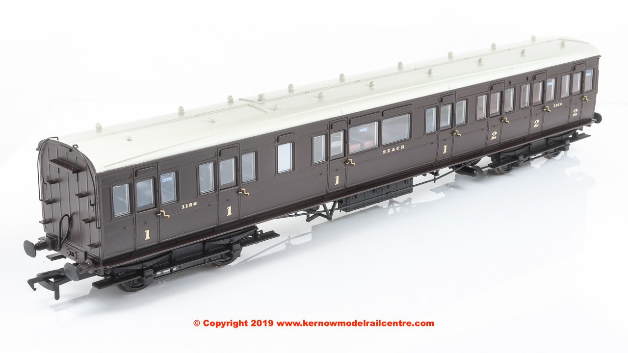 39-614 Bachmann SE&CR 60ft Birdcage Composite Lavatory SE&CR Wellington Brown
