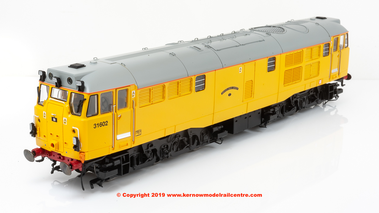 "R3745 Hornby Class 31 A1A-A1A Diesel Locomotive number 31 602 named ""Driver Dave Green"" in Network Rail Yellow livery"