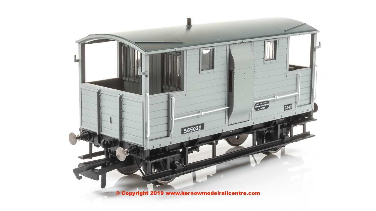 R6915A Hornby 24T Diag. 1543 Goods Brake Van number S55032 in BR Grey livery