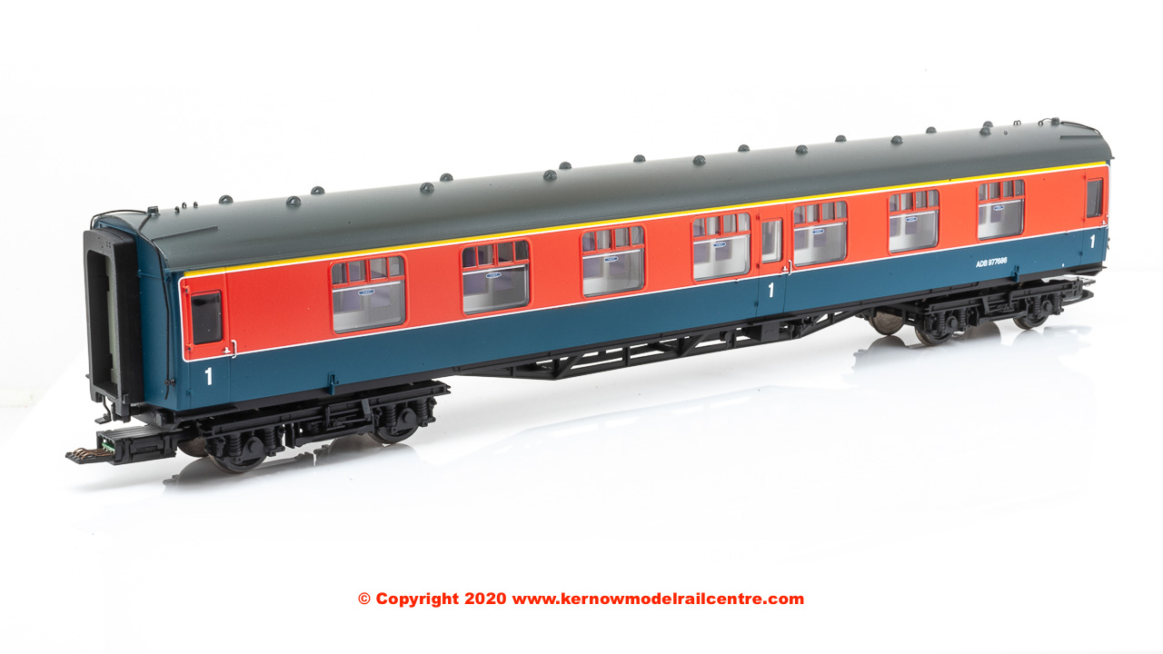 32-646Z Bachmann Class 438 4-TC Unit number 8007 in BR Research Department Red and Blue livery