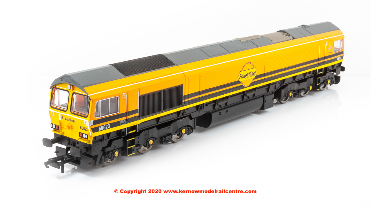 R3922 Hornby Class 66 Co-Co Diesel Locomotive number 66 623 in G & W Freightliner livery