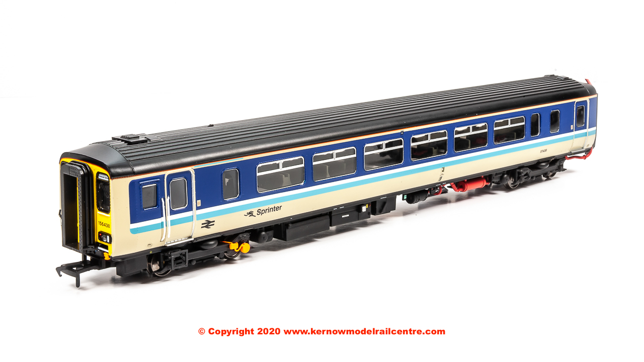 156-311 Realtrack Models Class 156 2 Car Sprinter DMU number 156 438 in BR Provincial Sprinter livery