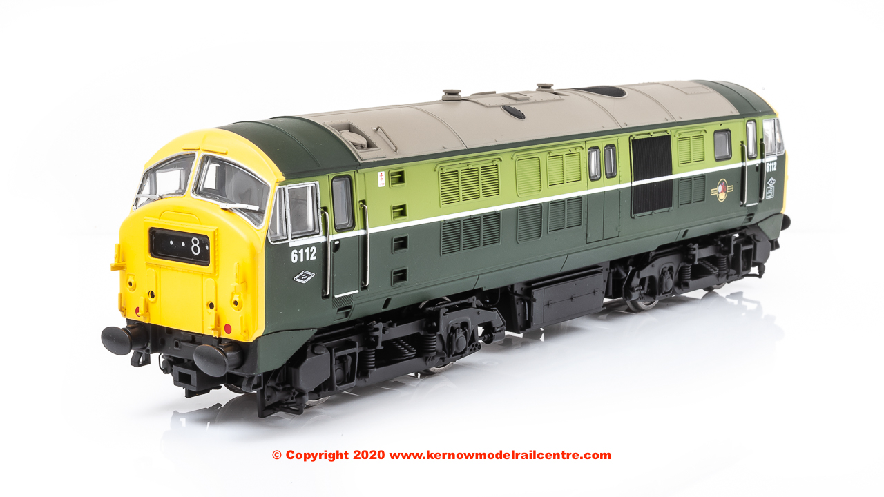 4D-014-000 Dapol Class 29 Diesel Locomotive number 6112 in BR Green livery with full yellow end