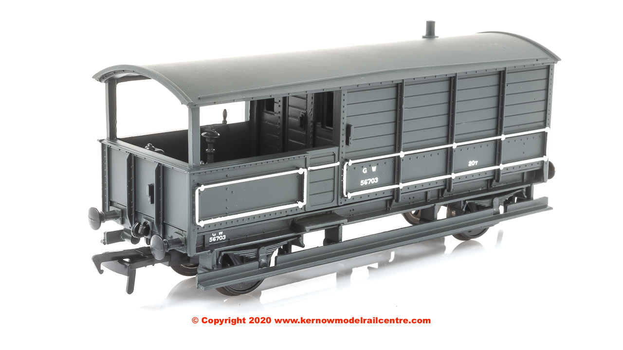 33-300H Bachmann 20 Ton Toad Brake Van number 56703 in GWR Grey livery