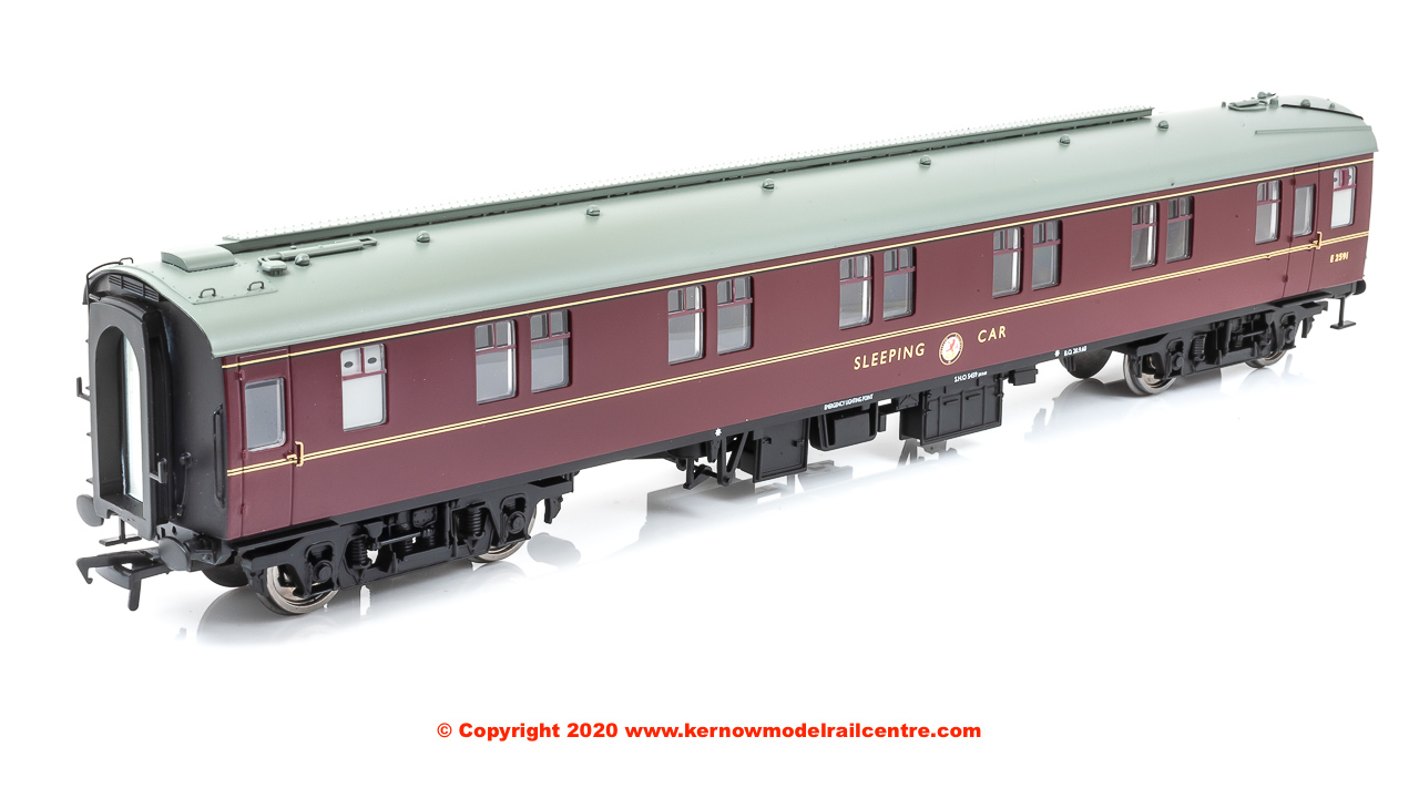 39-502A Bachmann BR Mk1 SLSTP Second Class Sleeper Car number E2591 in BR Maroon livery