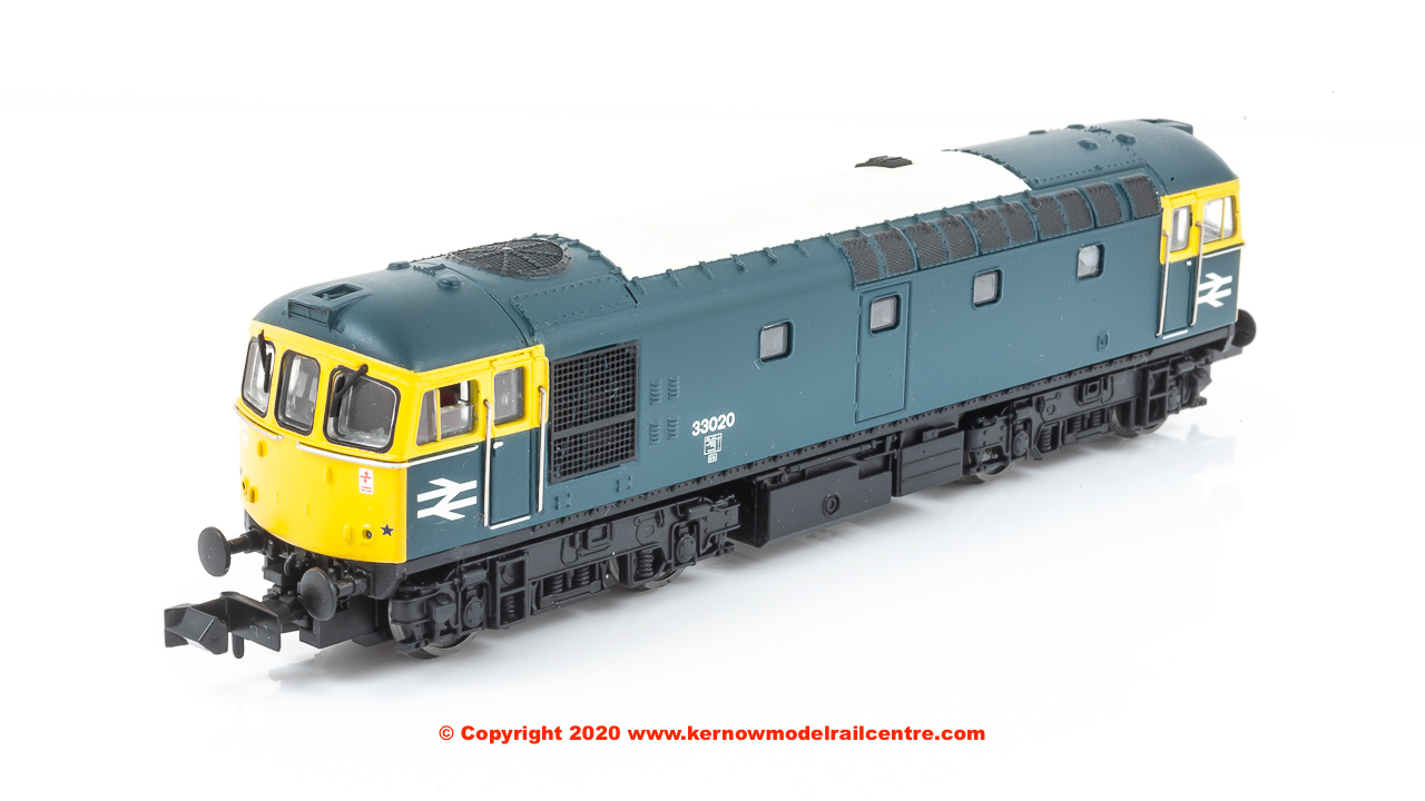 2D-001-005 Dapol Class 33/0 Diesel Locomotive number 33 020 in BR Blue livery