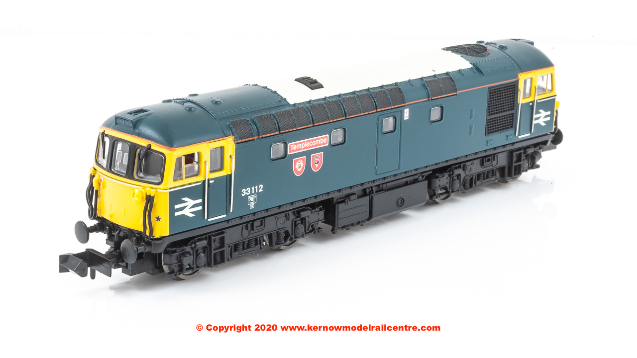 "2D-001-023D Dapol Class 33/1 Diesel Locomotive number 33 112 named ""Templecombe"" in BR Blue livery"