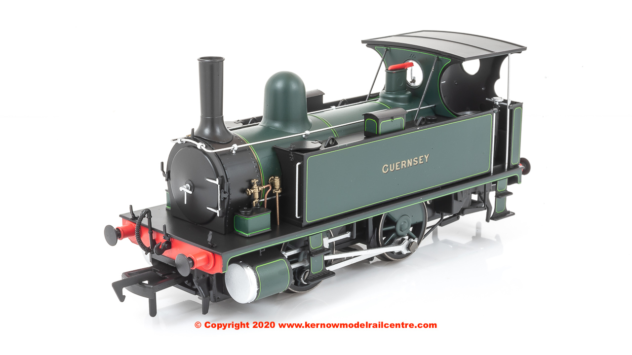 4S-018-007 Dapol B4 0-4-0T Steam Locomotive named Guernsey in Dark Green Lined Livery