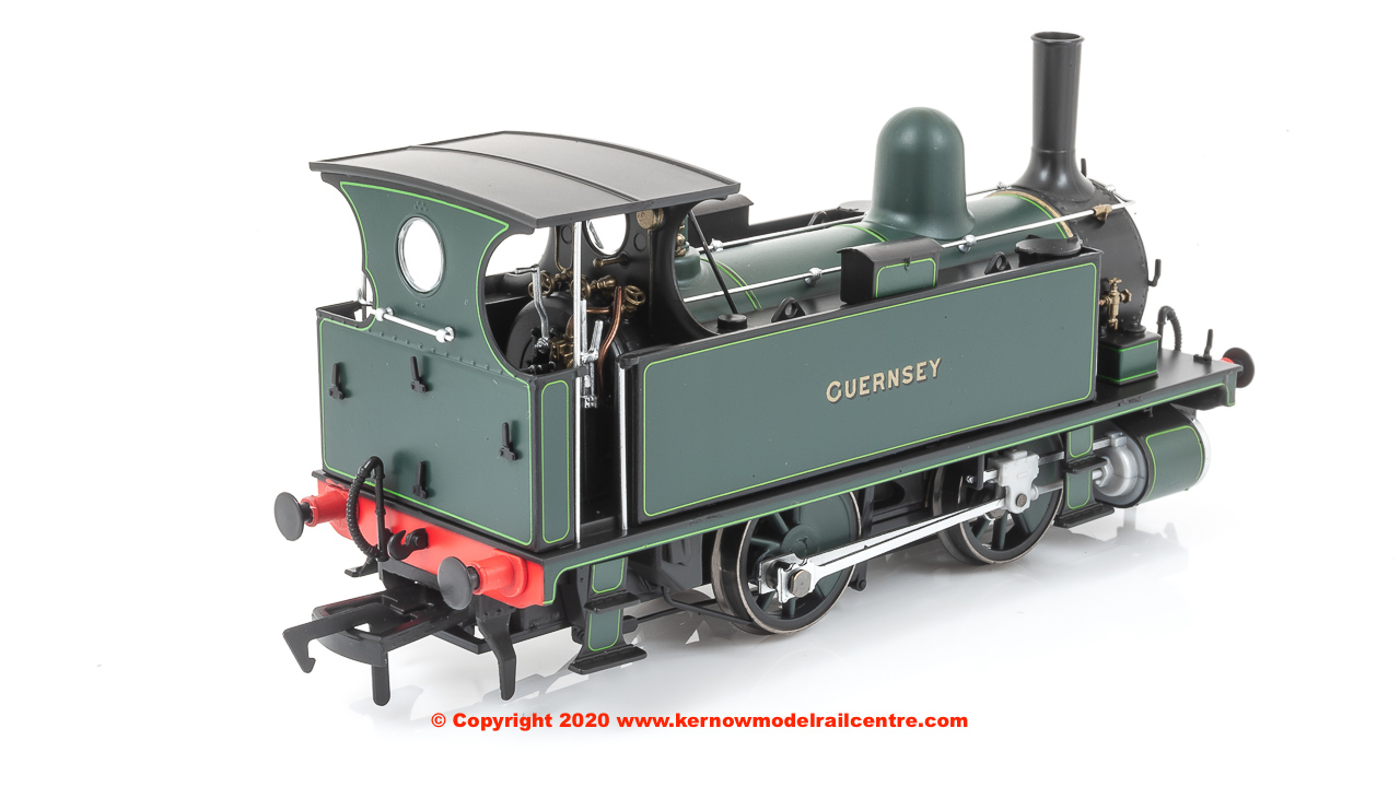 4S-018-007D Dapol B4 0-4-0T Steam Locomotive named Guernsey in Dark Green Lined Livery