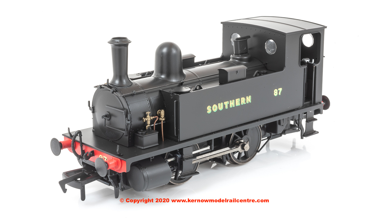 4S-018-009D Dapol B4 0-4-0T Steam Locomotive Number 87 in Southern Wartime Black Livery
