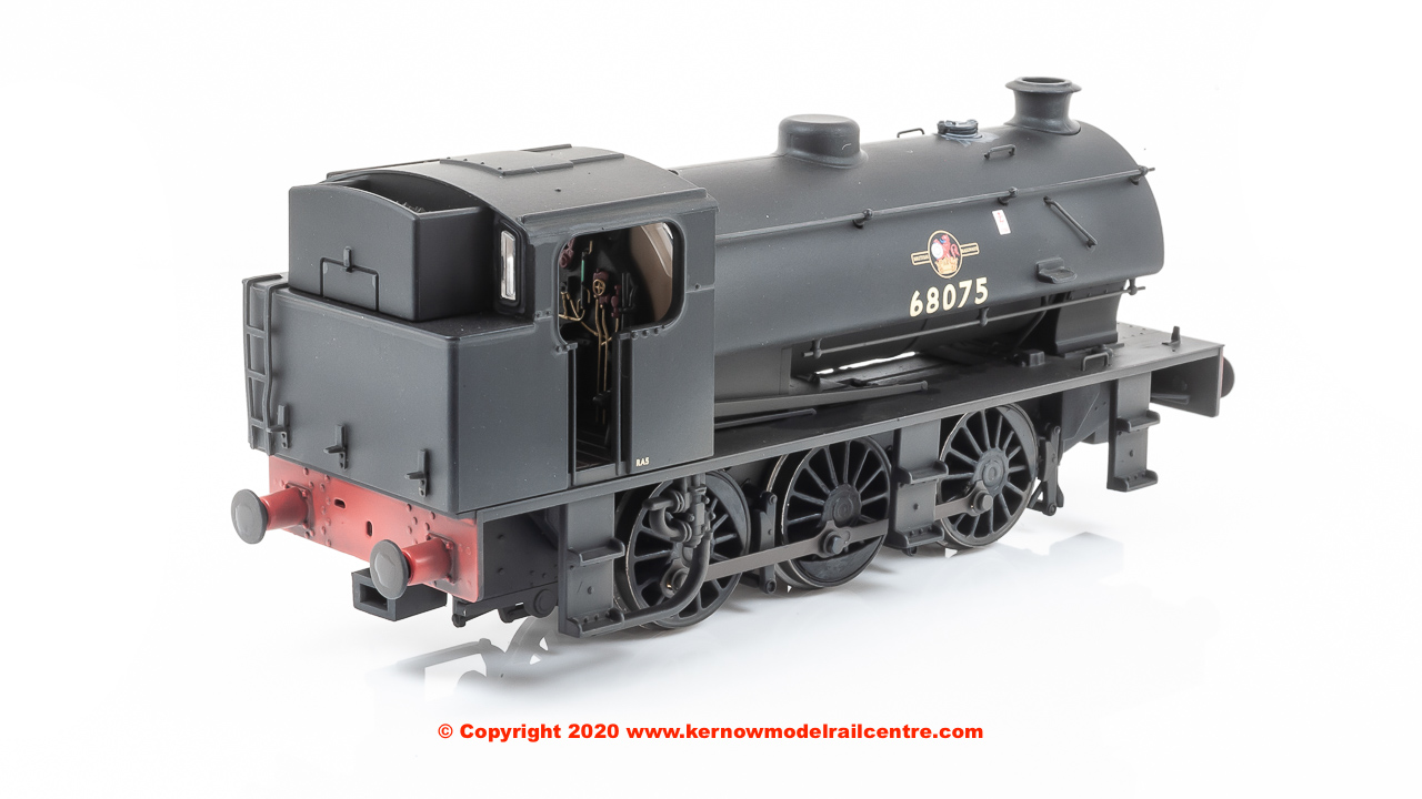E85001 EFE Rail Class J94 0-6-0 Steam Locomotive number 68075 in BR Black livery with Late Crest, tall coal bunker and weathered finish