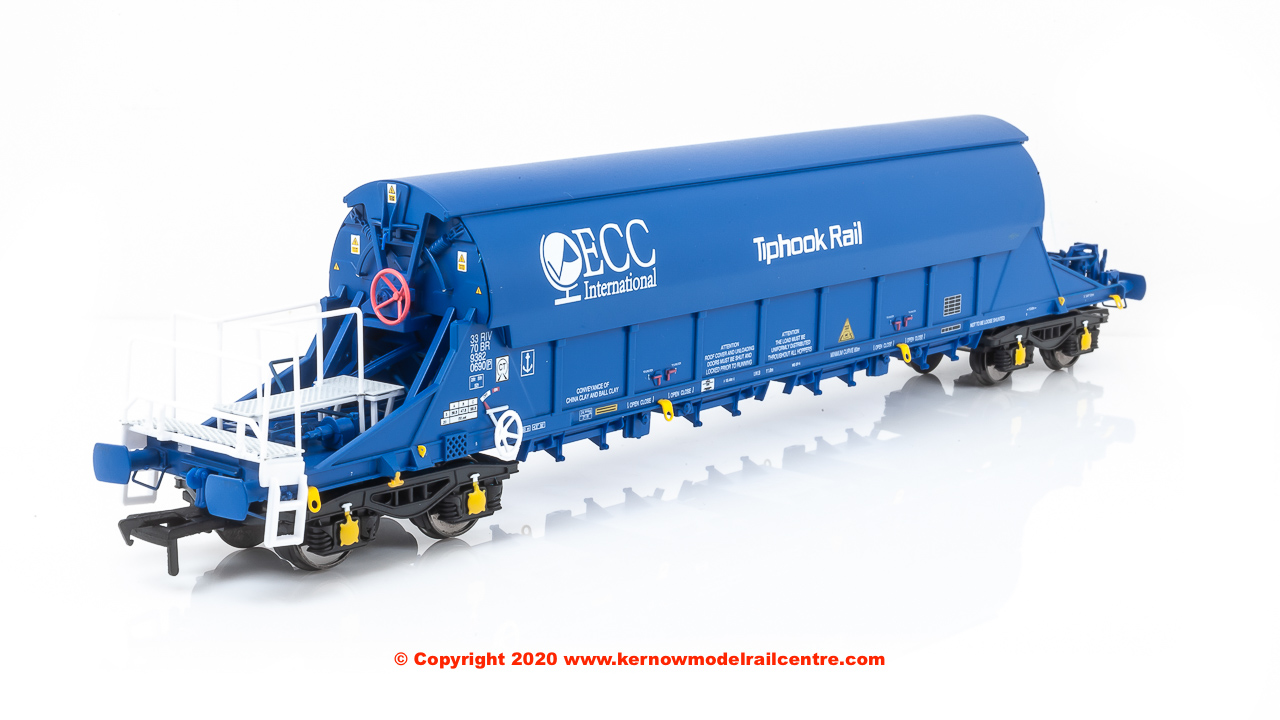 SB002K JIA TIGER China Clay Wagon number 33 70 9382069-0 in ECC International Blue livery with Tiphook Rail branding and pristine finish