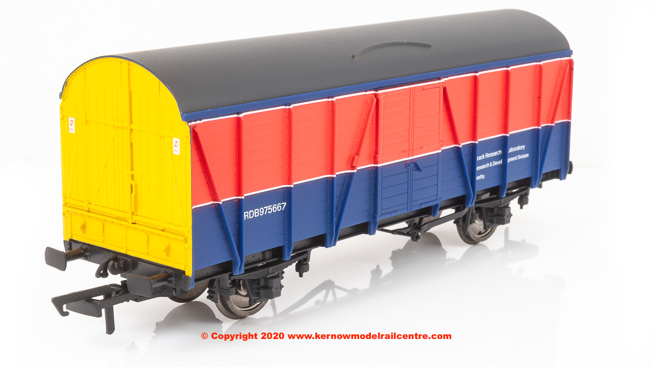 R60005 Hornby ex-LMS CCT number RDB 975667 Track Research Laboratory in BR Research Red and Blue livery - Era 7