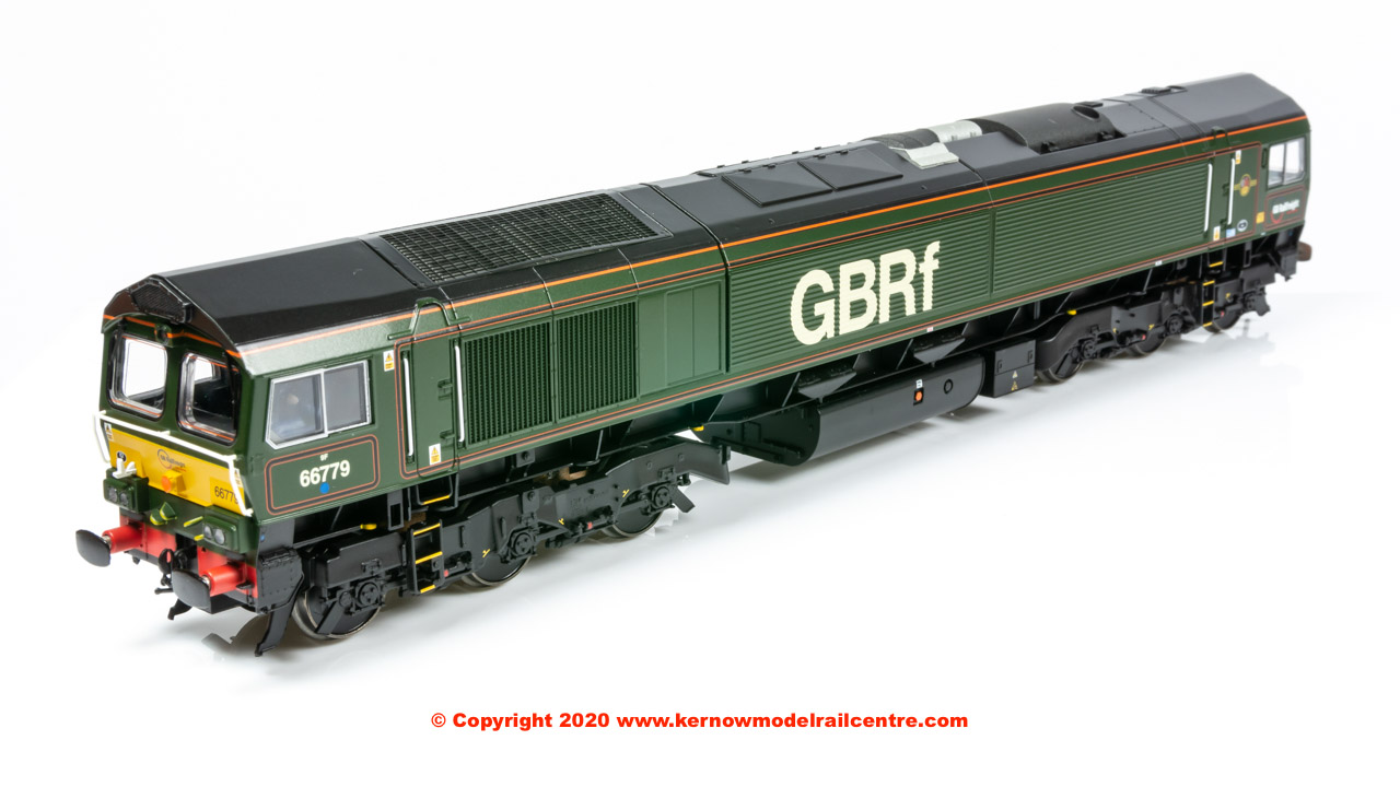 "32-983 Bachmann Class 66 Diesel Locomotive number 66 779 named ""Evening Star"" in GBRF Green special livery"