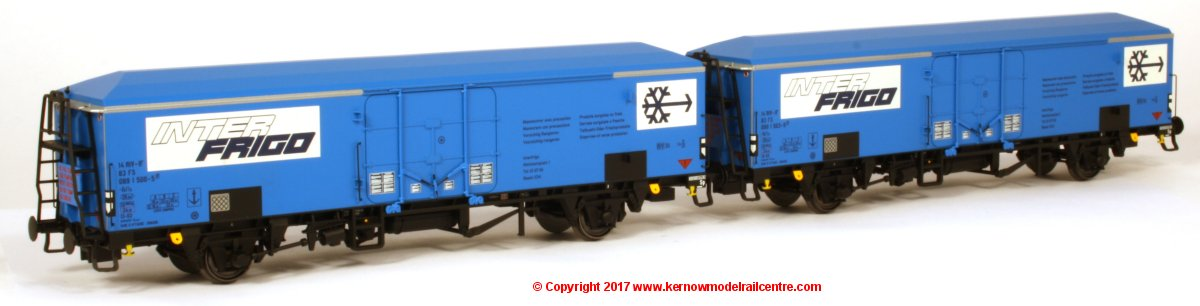 45079 ACME Ibfls FS Interfrigo Wagons number 089 1 503-9 and 089 1 500-5 in blue livery
