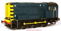 7D-008-010U Dapol Class 08 Diesel Locomotive in BR Blue livery with no ladder
