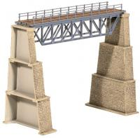 240 Ratio Steel Truss Bridge with Stone Piers