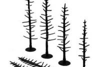 "TR1124 Woodland Scenics Tree Armatures, 70 Pines 2.5"" - 4"""