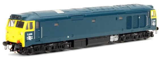 2D-002-000S Dapol Class 50 Diesel Locomotive number D406 in BR Blue livery - unrefurbished