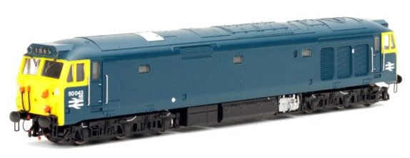2D-002-001S Dapol Class 50 Diesel Locomotive number 50 043 in BR Blue livery - unrefurbished